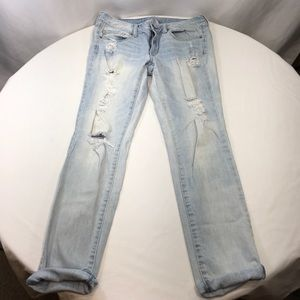 American Eagle Skinny Stretch Destroyed Jeans 8